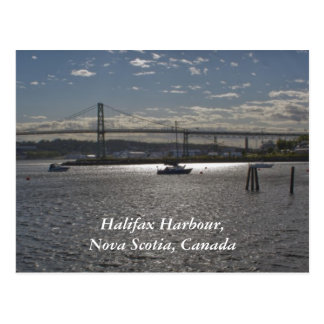 Halifax Harbour with  A. Murray MacKay Bridge Postcard