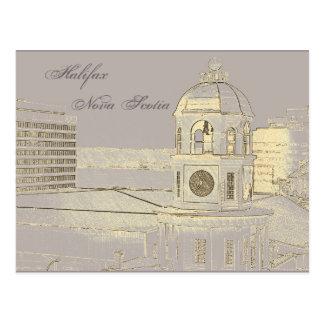 Halifax Nova Scotia Clock Tower Postcard