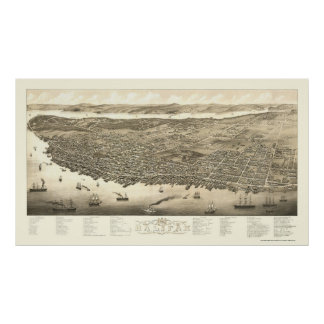 Halifax, NS, Canada Panoramic Map - 1879 Poster
