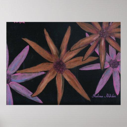Halima floral femenina Ahkdar Impresiones