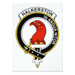 Halkerston Clan Badge Personalized Invite