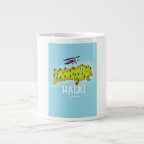 Halki Greece Map Illustrated travel poster