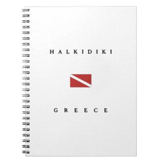 Halkidiki Greece Scuba Dive Flag Notebook
