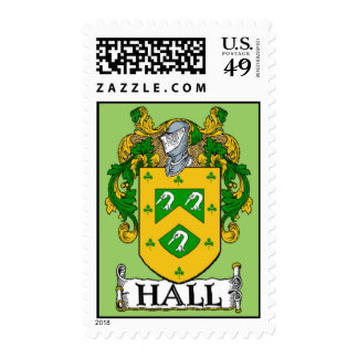 Hall Coat of Arms Postage Stamps