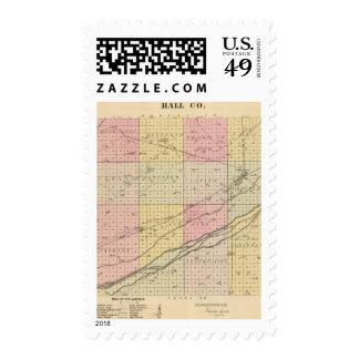 Hall County, Nebraska Postage Stamp