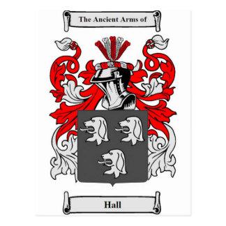 Hall (English) Coat of Arms Postcard