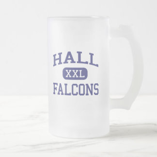 Hall Falcons Middle Watsonville California Frosted Glass Beer Mug