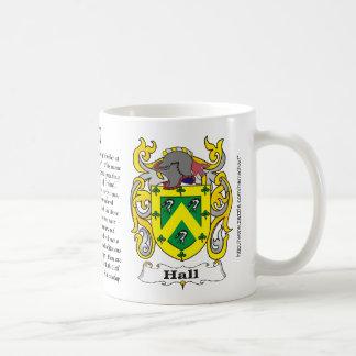 Hall Family Coat of Arms a mug