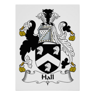 Hall Family Crest Poster