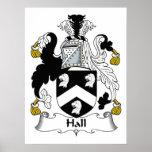 Hall Family Crest Print
