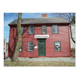 Hall Haskell Historical Home Ipswich Mass. Poster