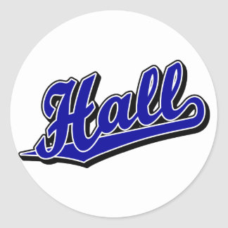 Hall in Blue Classic Round Sticker
