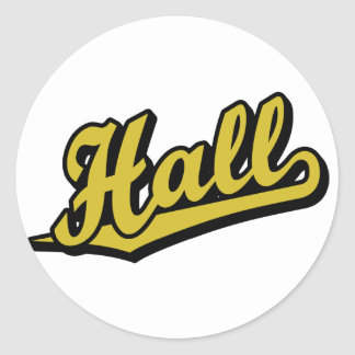 Hall in Gold Classic Round Sticker