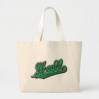 Hall in Green Canvas Bags