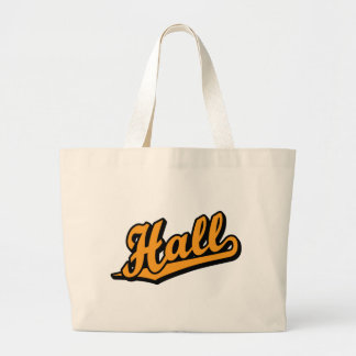 Hall in Orange Tote Bags