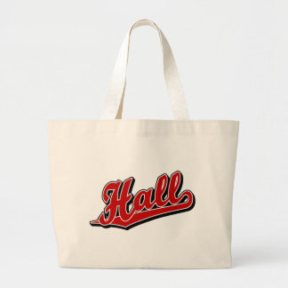 Hall in Red Tote Bags