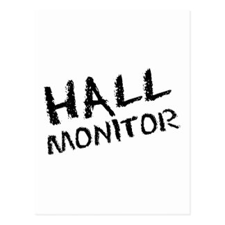 Hall Monitor Black Postcard