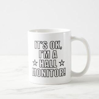 Hall Monitor Classic White Coffee Mug