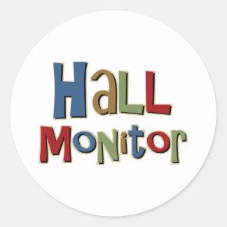 Hall Monitor Colorful Classic Round Sticker