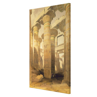 """Hall of Columns, Karnak, from """"Egypt and Nubia"""", V Canvas Print"""