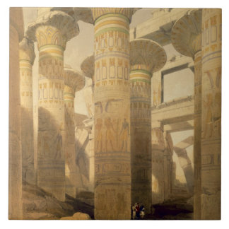 "Hall of Columns, Karnak, from ""Egypt and Nubia"", V Tile"