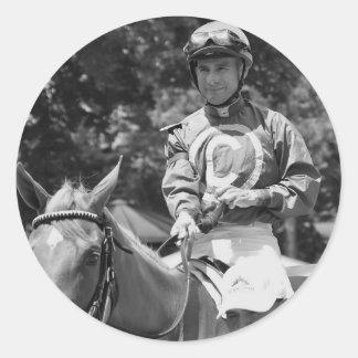 Hall of Fame Jockey Alex Solis Classic Round Sticker