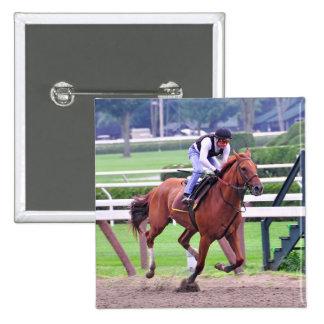 Hall of Fame Jockey Alex Solis Pinback Button