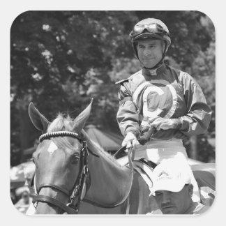 Hall of Fame Jockey Alex Solis Square Sticker