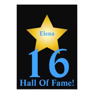 Hall Of Fame Sweet Sixteen-Customize Card