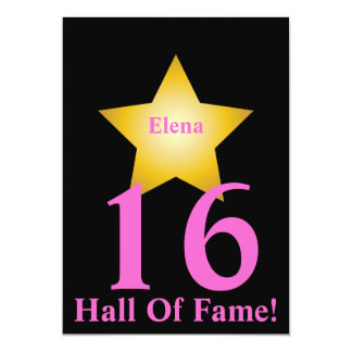Hall Of Fame Sweet Sixteen-Customize Card