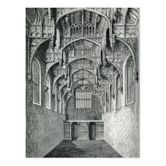 Hall of Hampton Court Palace Postcard