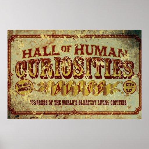 Hall of Human Curiosities Print