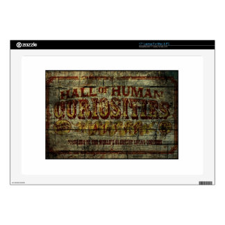Hall of Human Curiosities Vintage Banner Decal For Laptop