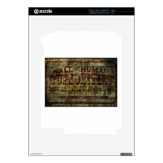 Hall of Human Curiosities Vintage Banner Decals For The iPad 2