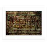 Hall of Human Curiosities Vintage Banner Postcard