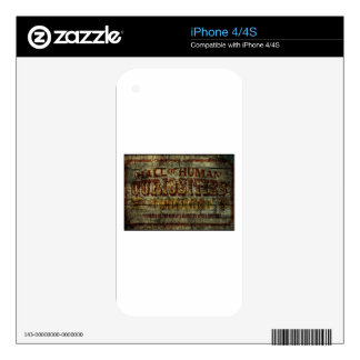 Hall of Human Curiosities Vintage Banner Skin For The iPhone 4S