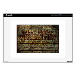 Hall of Human Curiosities Vintage Banner Skins For Laptops
