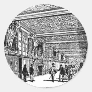 Hall of knowledge classic round sticker