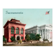 Hall Of Records Vintage California Postcard