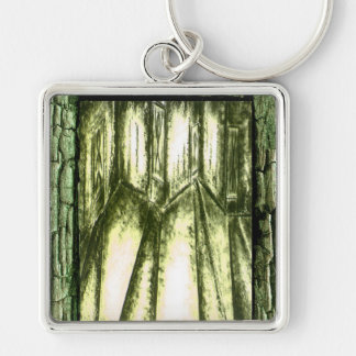 Hall of Souls Silver-Colored Square Keychain