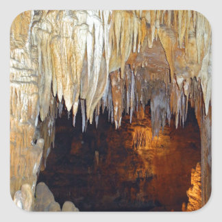 Hall of the Ancient Spirits Mystical Cave Scene Square Sticker