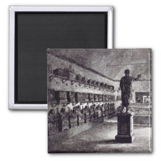 Hall of the Arringatore, Etruscan Museum 2 Inch Square Magnet
