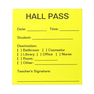 Hall Pass Pad