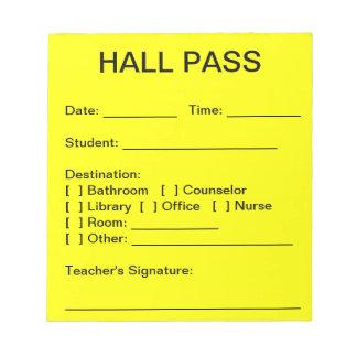 Hall Pass Pad