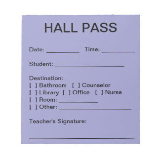 Hall Pass Pad (Sky)