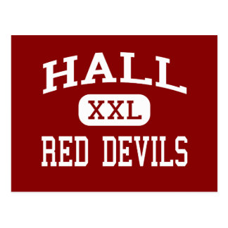 Hall - Red Devils - High - Spring Valley Illinois Postcard