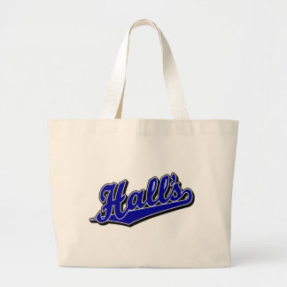 Hall s in Blue Canvas Bags