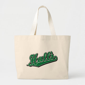 Hall s in Green Canvas Bag