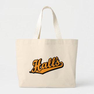 Hall s in Orange Canvas Bag