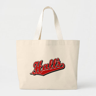 Hall s in Red Tote Bags